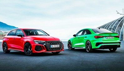 Audi представи новите RS3 хечбек и седан с 400-силен двигател