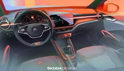 Skoda Fabia от четвърто поколение ще получи интериор от актуалната Octavia